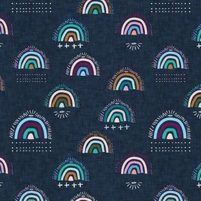 Pop Moroccan Rainbow (navy) sml
