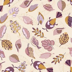 Big Birds - Purple and Mustard