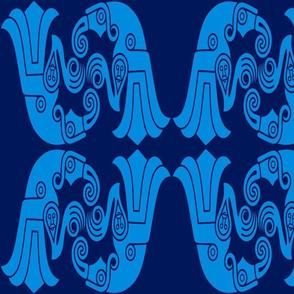 Germantic Broa bird blue laargeg