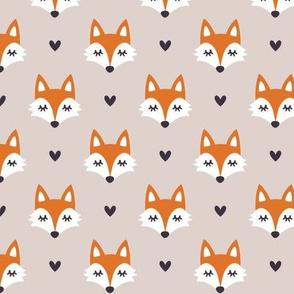 Autumn fox. Small scale