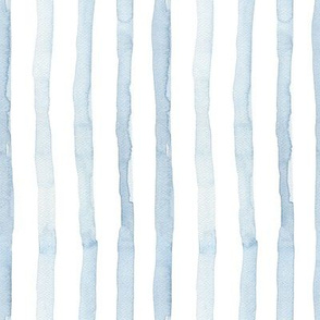 Blue Watercolor Stripes / Morning Stories