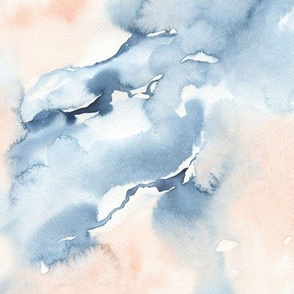 Blue & Blush Watercolor Texture / Morning Stories