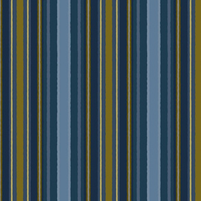 Stripes in Naval and Gold