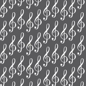 treble clef - gray