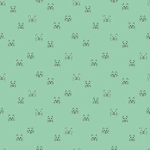 cat face  mint - medium scale