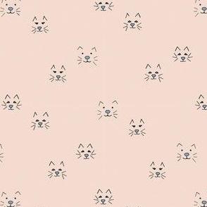cat face soft pink - medium scale