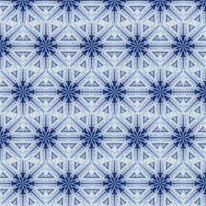 Sea Snowflake Blue White Lav