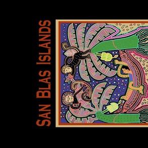 Panama San Blas Islands - Tea Towel Poster