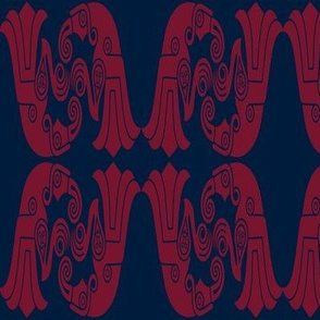 Germanic Broa Birds  - blue red