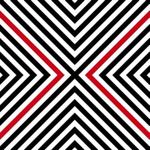 Red & Black OpArt - Regular  Scale