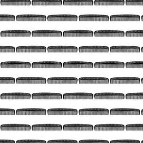 Vintage Hair Combs Barbershop Pattern (Mini Scale)