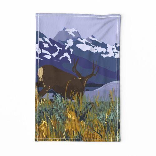 Tetons Tea Towel