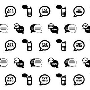 Cell Phone Texting Text Message Icons (Mini Scale)
