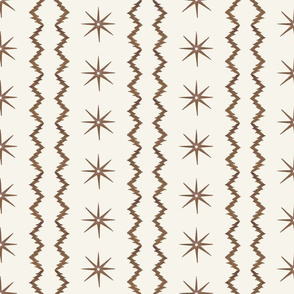 Small scale stars-and-stripes-brown-and-cream