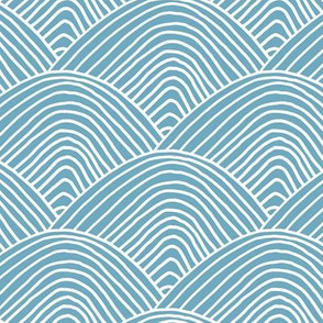 Minimalist sea ocean waves and surf vibes abstract salty water minimal Scandinavian style stripes baby blue white LARGE