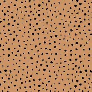 Little spots and speckles panther animal skin abstract minimal caramel cinnamon brown SMALL