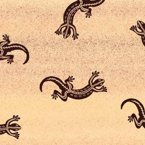 Gecko in the Desert