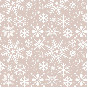 Snowflakes in Neutral tone