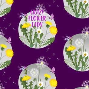 crazy flower lady - purple