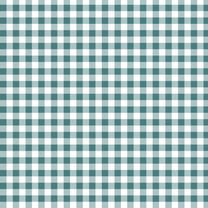gingham pine green small