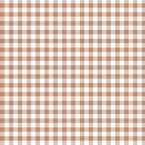 gingham sienna brown small