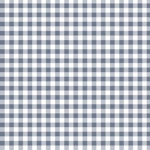 gingham bluish gray small