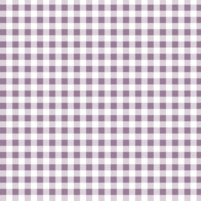 gingham soft lilac red small