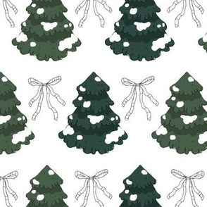 Fir Trees and Bows