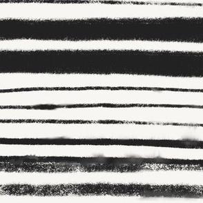 Black and Natural White Stripes