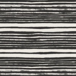 Black and Natural White Stripes - small scale