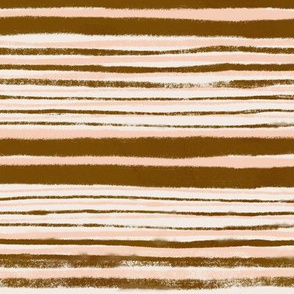 Earth Tones Hand painted Stripes