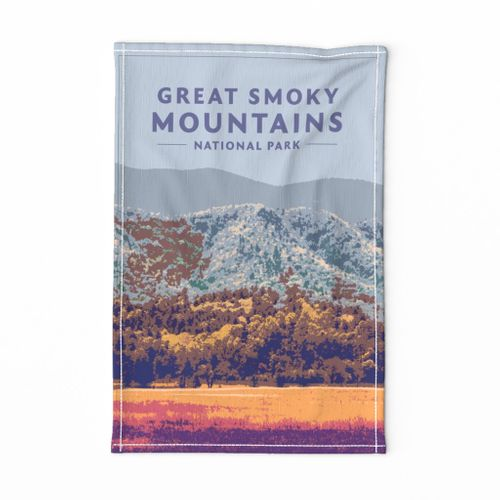 Great Smoky Mountains Tea Towel
