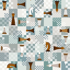 chess on teal
