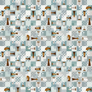 chess on teal - small