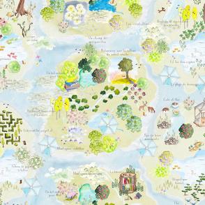 3 La terre de repos The Land of Rest Map en francais