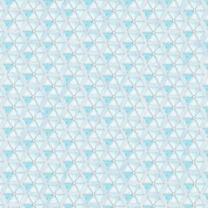 13 The Land of Rest  Geometric Beach Umbrella Blue