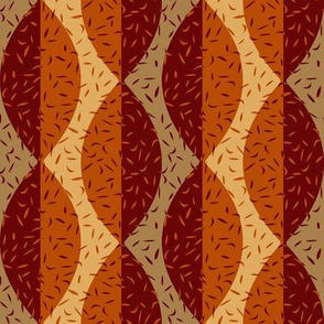modern  leaves burgundy and burnt orange fall