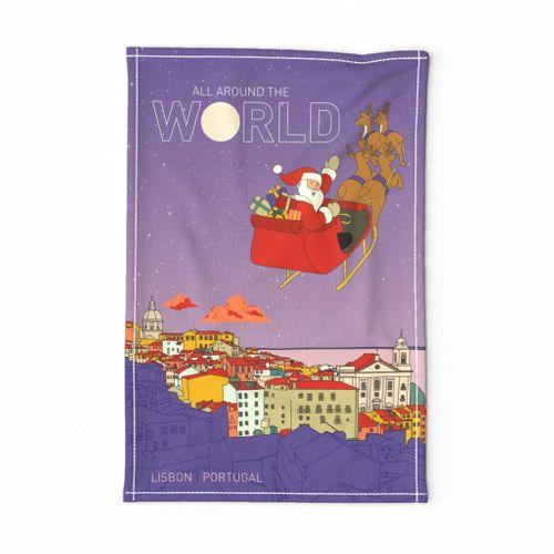 Santa's flying over Lisbon - Portugal