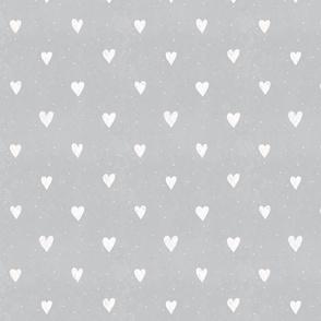 White hearts on Grey (bigger)