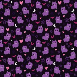 Pastel Goth Llama Purple - M