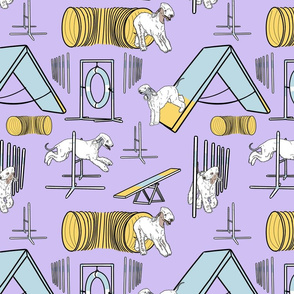Simple Bedlington Terrier agility dogs - purple