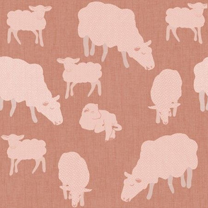 Simple pink sheep