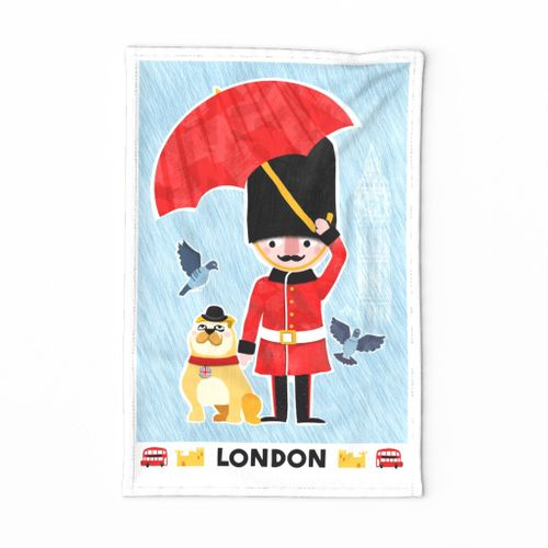 Travel London Tea Towel