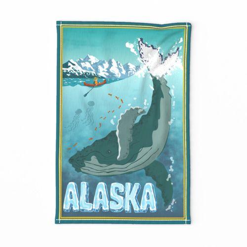 Vintage Alaskan Travel teatowel