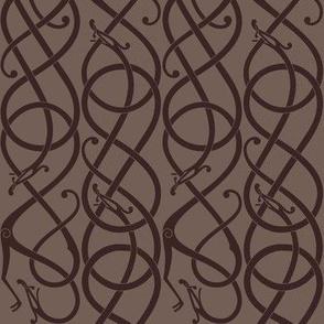 Urnes scrollwork brown vert