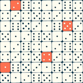 Dice (white and red)