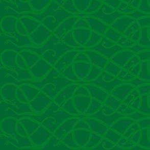 Urnes-scrollwork green horz