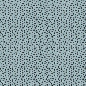 Shades of Blue Polka Dots