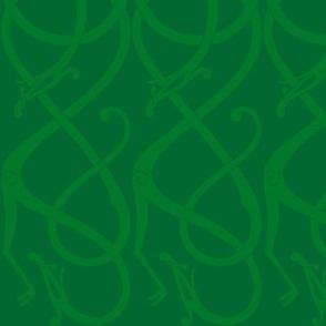 Urnes-scrollwork green Vertical
