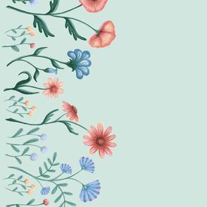 Wildflowers on Seafoam
